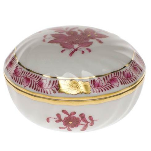 Chinese Bouquet Raspberry Ring Box