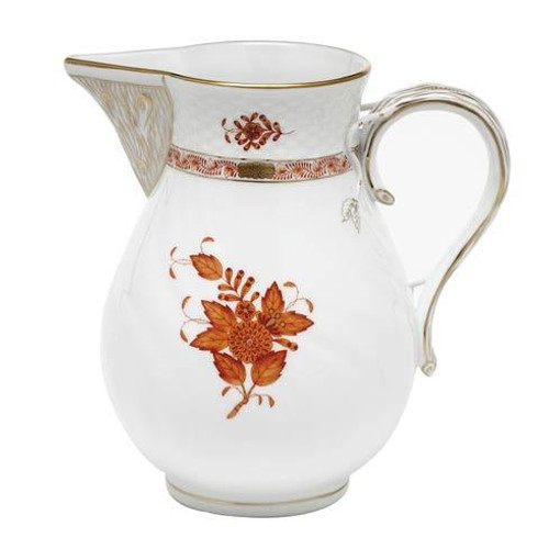 Chinese Bouquet Rust Pitcher - Rust
