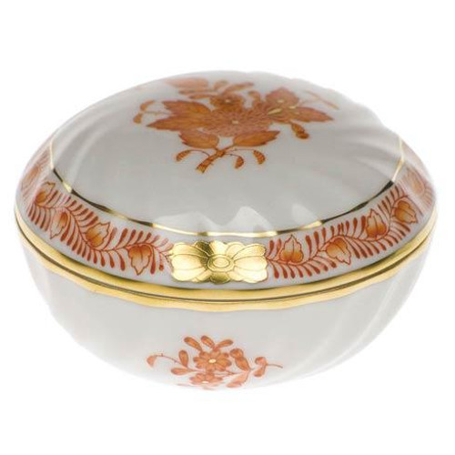 Chinese Bouquet Rust Ring Box