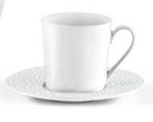 Baghera White Coffee Cup And Saucer