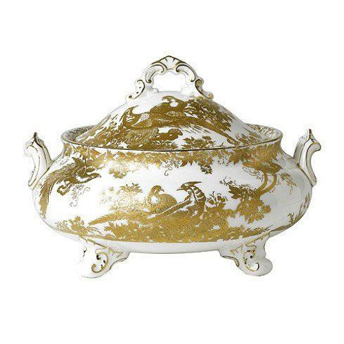 Aves Gold Covered Vegetable Dish