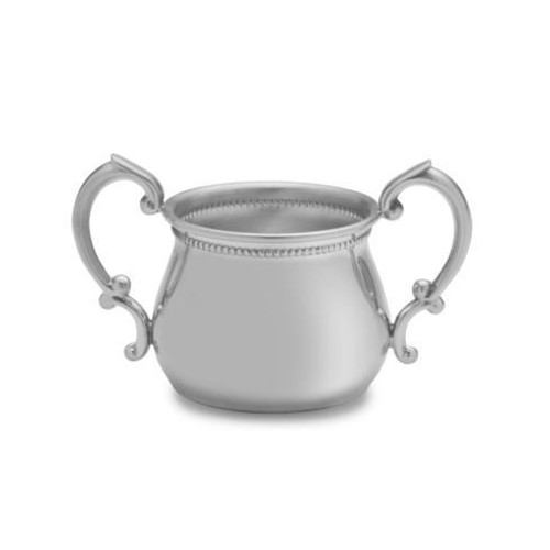 Pewter Baby Cups Beaded Double Handle Baby Cup [EMPLBD-899-2]