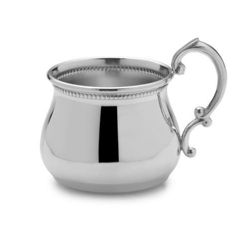Pewter Baby Cups Beaded Pot Belly Baby Cup [EMPLBD-899]