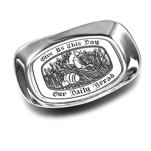 """Give us this Day"" Small Bread Tray [WILLBD-601008]"