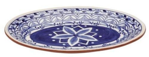 Alentejo Terracota Indigo Small Oval Platter