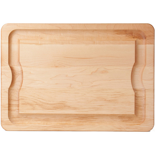 The Maple BBQ Carving Board is a continuous best seller. This board is made for going out to the BBQ or bringing your roast to the family table. The undercut handles make carrying an ease. There is a flat surface which is perfect for carving your favorite fall-off-the-bone ribs and grilled steaks. A wide groove collects the juices while you carve keeping your counters and table nice and tidy. The Maple BBQ Carving Board is available in three sizes-the perfect size for any of your carving needs.