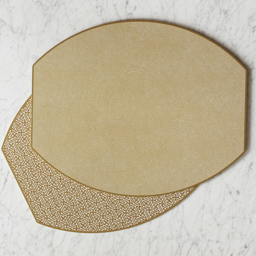 Ellipse Reversible Placemats   Beautiful accessories to adorn your tablescapes and add to your Sasha Nicholas wedding & gift registry