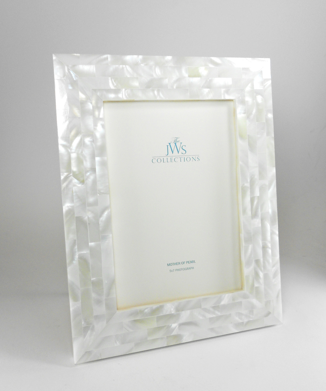 White Mother Of Pearl Frame Perfect For Gift Wedding Registry
