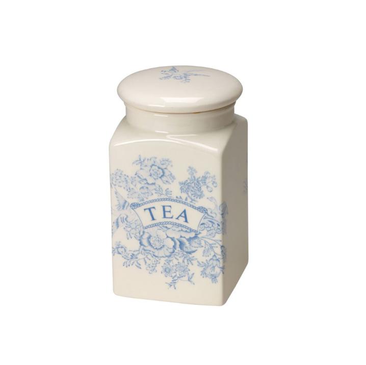 Burleigh Blue Asiatic Pheasants Tea Square Covered Storage Jar