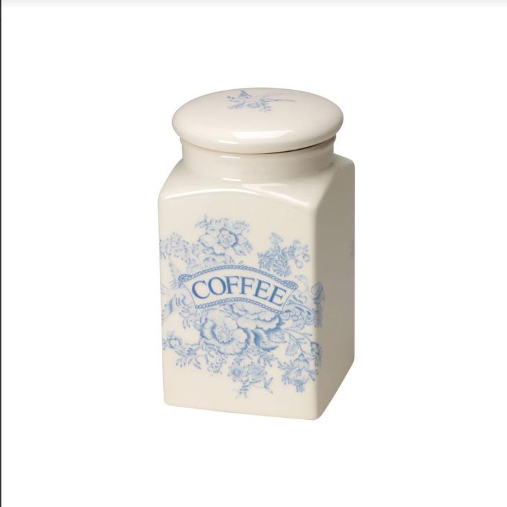 Burleigh Blue Asiatic Pheasants Coffee Square Covered Storage Jar