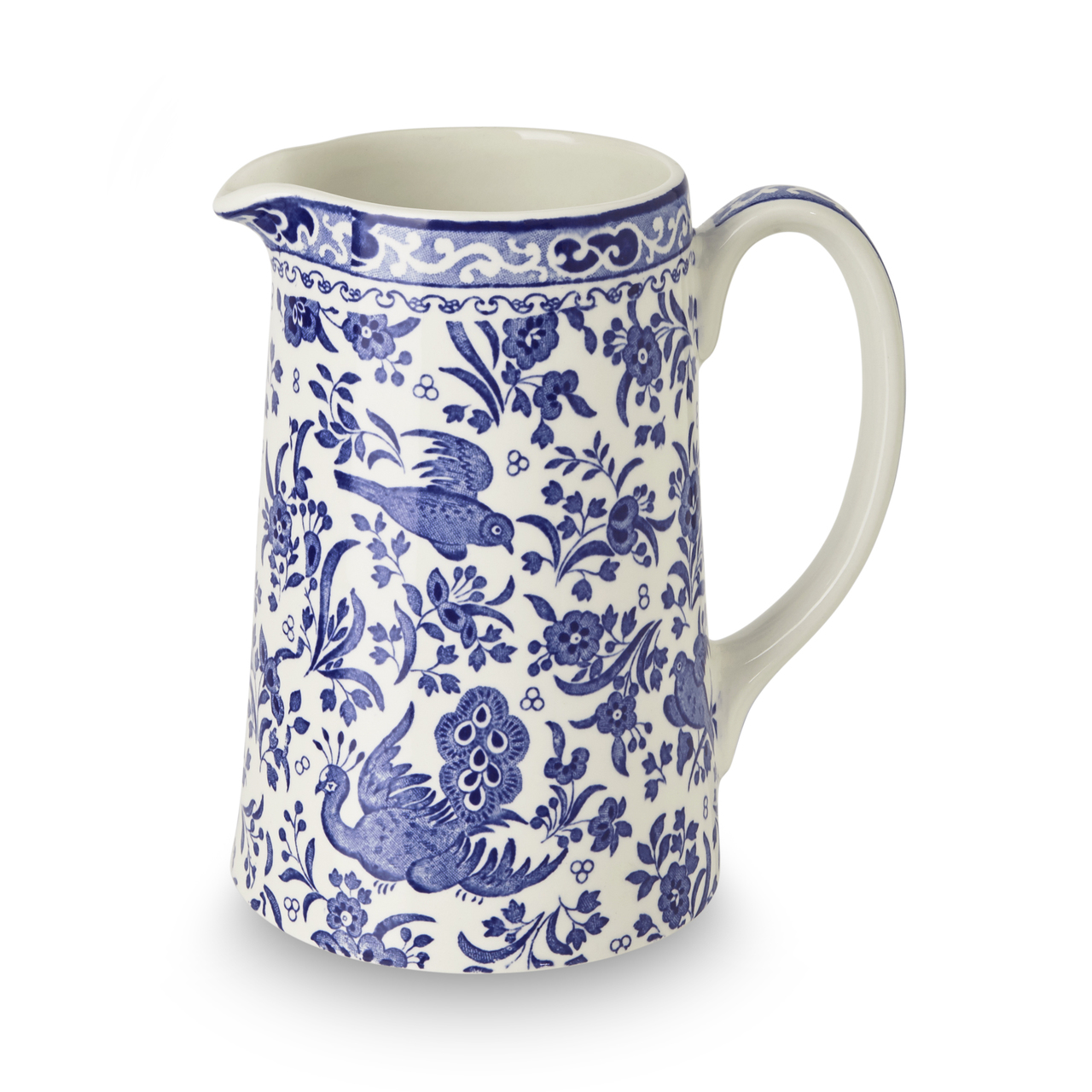 Burleigh Blue Regal Peacock | Beautiful china dinnerware to adorn your tablescapes and add to your Sasha Nicholas wedding & gift registry