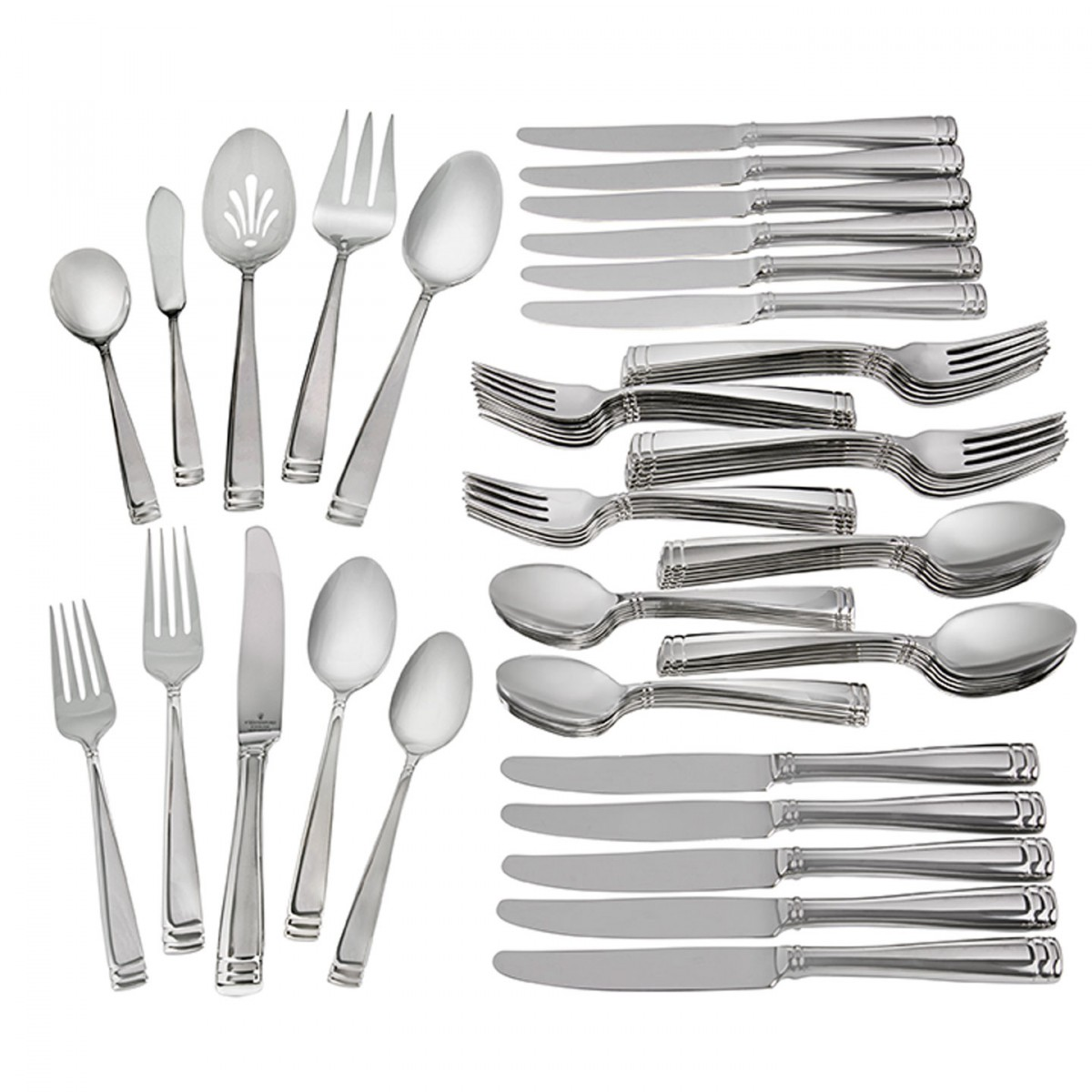 Eisenhardt-Mckillip Waterford Conover Stainless 65-Piece Flatware Set
