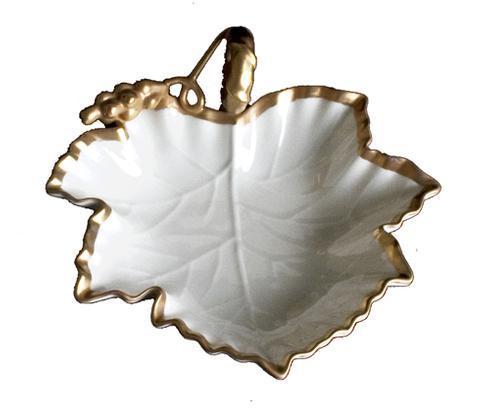 Anna's Golden Patina Grape Accessory Dish
