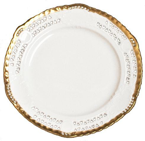 Anna's Golden Patina Openwork Plate