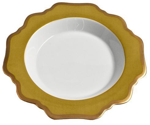 Anna's Palette Meadow Green Rim Soup Plate