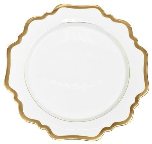 Antique White with Gold Bread and Butter