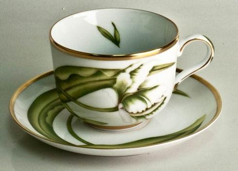 White Tulips Tea Cup