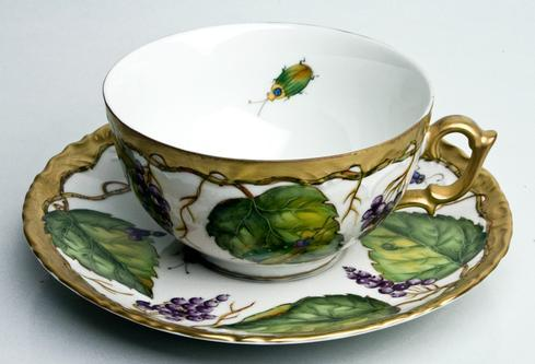 Wildberry Lavender Tea Cup & Saucer