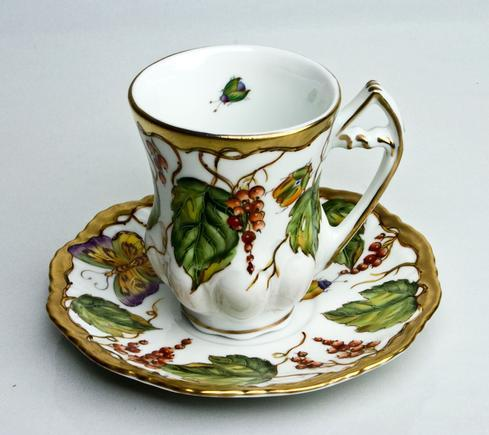Wildberry Red Demitasse Cup & Saucer