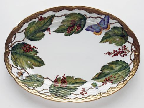 Wildberry Red Oval Platter