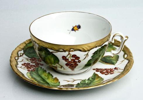 Wildberry Red Tea Cup & Saucer
