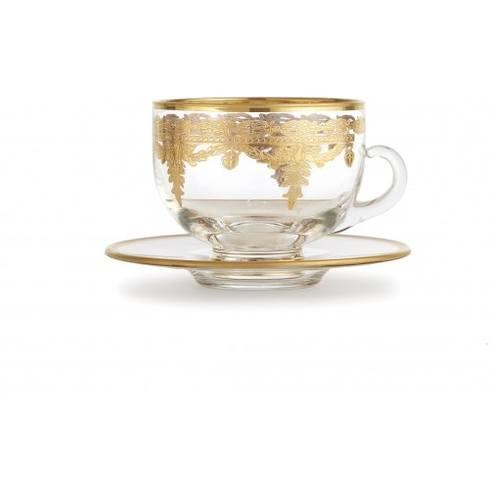 Vetro Gold Coffee Cup/Saucer