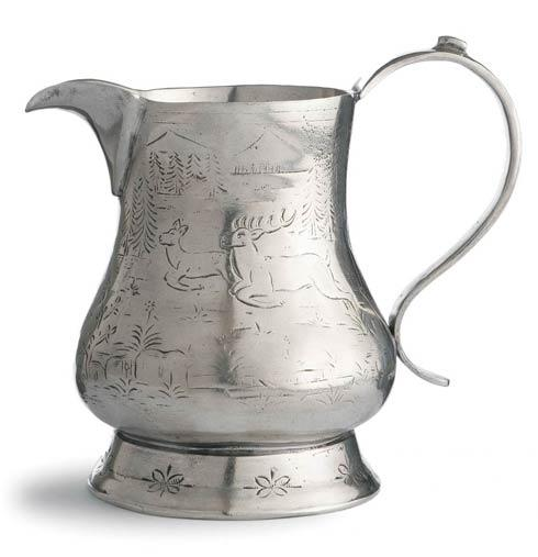 Vintage Pewter Pitcher with Deer