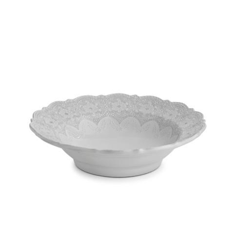 Merletto White Serving Bowl