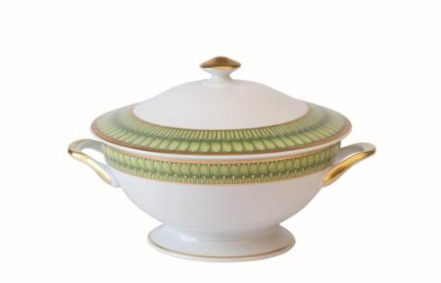Arcades green Footed Soup Tureen With Lid