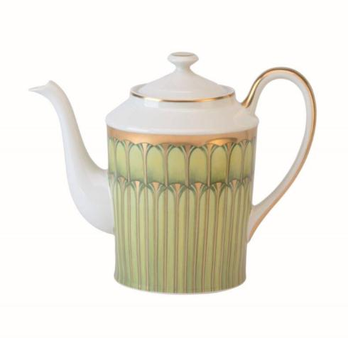 Arcades green Round Coffee Pot