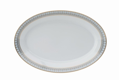 Arcades grey & gold Oval platter