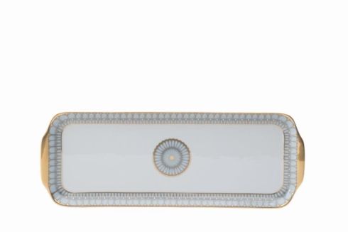 Arcades grey & gold Rectangular Cake Platter