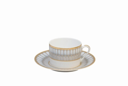 Arcades grey & gold Tea Cup