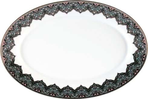 Dhara Peacock Oval platter