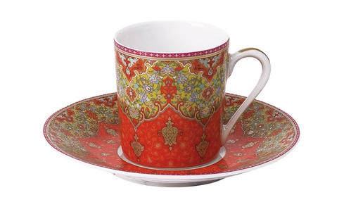 Dhara red Coffee Saucer