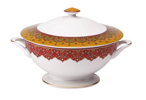 Dhara red Footed Soup Tureen