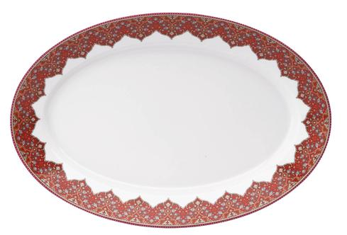 Dhara red Oval Platter