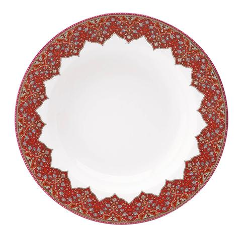 Dhara red Rim Soup Plate