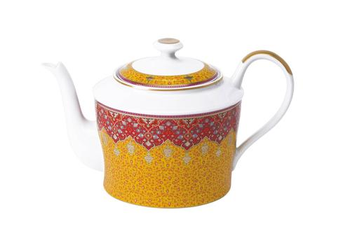 Dhara red Tea Pot