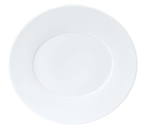 "Epure white Charger plate 13""x12.25"""