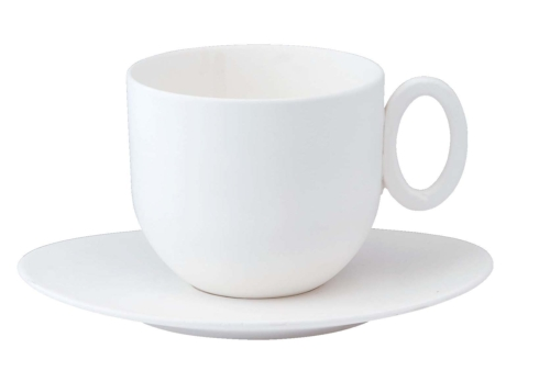 Epure white Tea cup & saucer