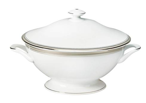 Excellence grey Footed Soup Tureen With Lid
