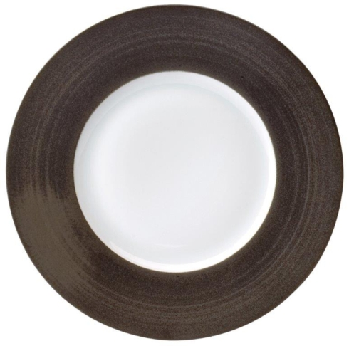 Galileum graphite Dinner Plate Large Rim
