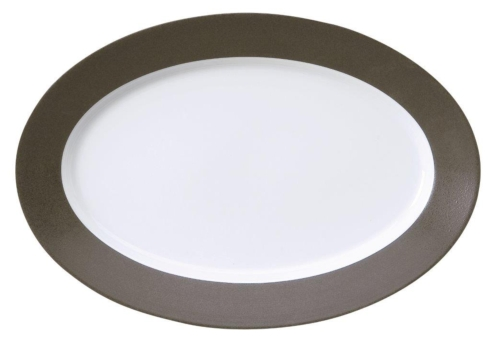 Galileum graphite Oval Platter