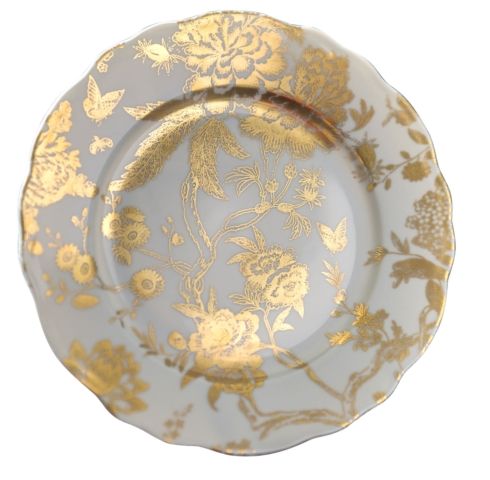 Jardin Secret Grey & Gold accent plate