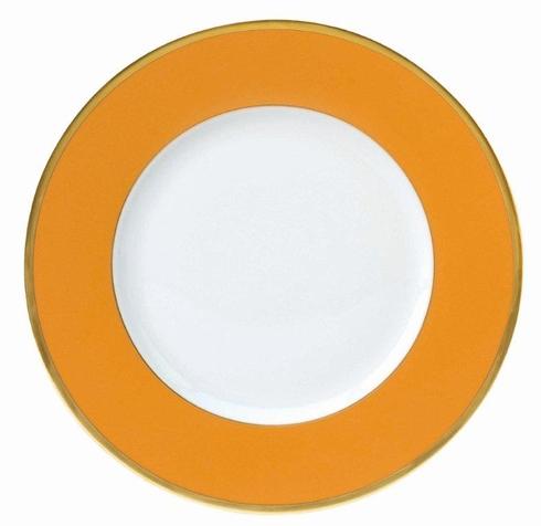 Les Indiennes gold filet Presentation Plate Mandarine