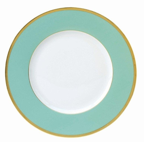 Les Indiennes gold filet Presentation Plate Turquoise