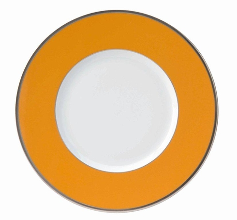Les Indiennes platinum filet Presentation Plate Mandarine