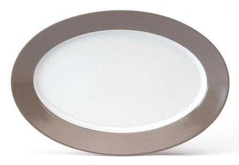 Seychelles taupe Oval Platter