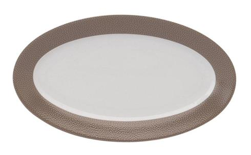 Seychelles taupe Relish Dish Or Sauce Boat Tray